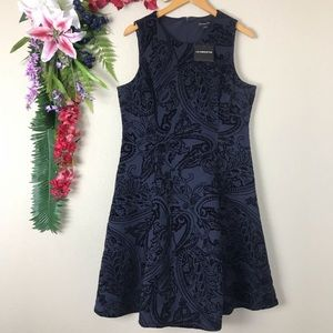 Liz Claiborne black and navy dress